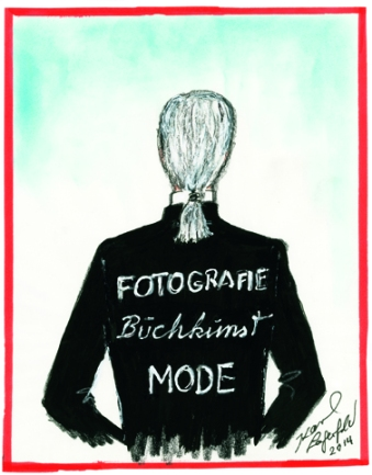 Karl Lagerfeld: Zeichnung für die Ausstellung im Museum Folkwang 2014