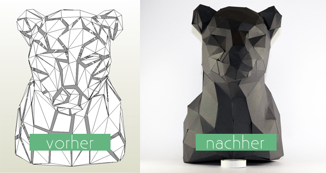 diy 3d origami panther in trophy style freebie. Black Bedroom Furniture Sets. Home Design Ideas