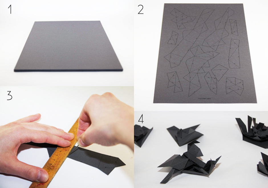 Step By Towards The Origami Panther