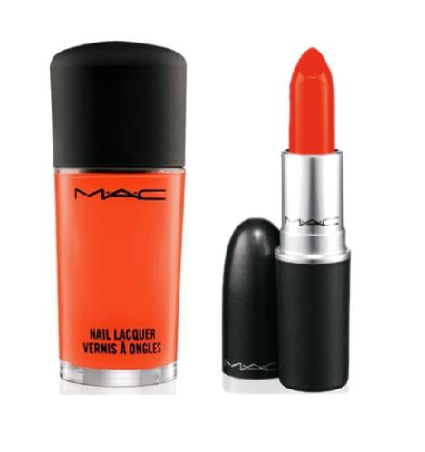 MAC Morange matte lipstick_nailpolish