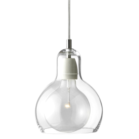 &Tradition Mega Bulb weiss mit transparentem Kabel