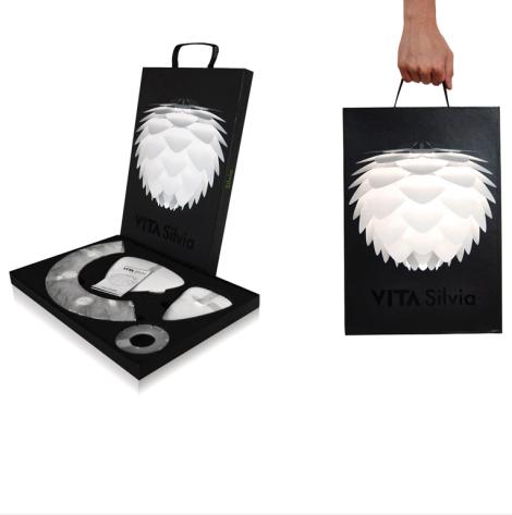 Vita Silvia Leuchte | ultraflaches Verpackungsdesign