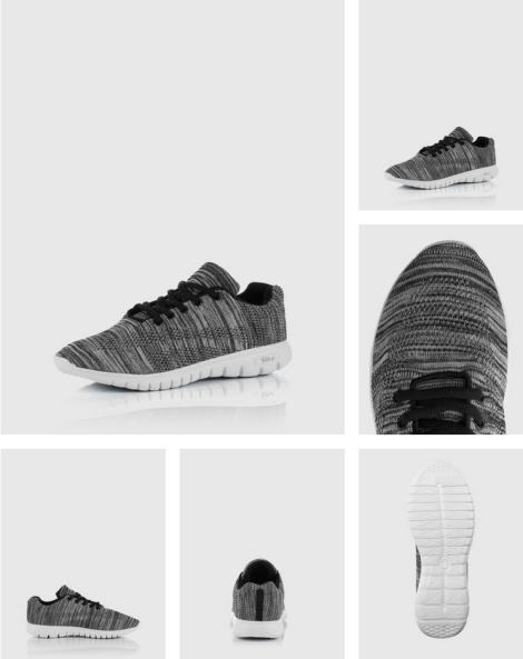 Blink Strick Sneaker grau